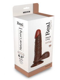 REALISTIC VIBRATOR REAL RAPTURE BROWN 6.5