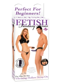 FF VIBRATING HOLLOW STRAP ON PURPLE