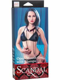 SCANDAL OPEN MOUTH GAG WITH CLAMPS